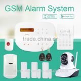 wireless GSM alarm system that User can use Remote controller, APP, remote call, wireless keypad to Arm or disarm the system