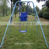 outdoor basket swing seat with safety protection system