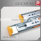 Good sell Hettich design 3 fold ball bearing telescopic channel