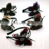 Unique butterfly shape peacock feather headband