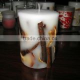 cinnamon candles/candle with cinnamon