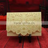 Free Customized design Different Colors for Choose Royal Laser Cutting beige Wedding Invitation Cards