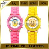 NEW Trendy candy color silicone rubber Kissy Face Silicone Quartz emoji watch