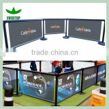 TS-CB03 Outdoor cafe barriers banners,cafe screens vinyl imprint,cafe furniture for crowd control