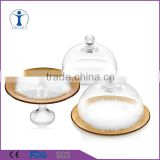 Hand made Amazing Multifunctional Clear Glass Cake dome with cake stand