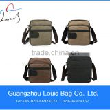 personalized promotion canvas bag genuine leather messenger bag manufacturer in guangzhou