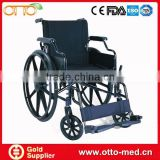 Foldable steel manual wheelchair