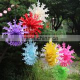 paper mache flower pots planters decoration fan tissue fan flowers hanging magic tissue paper flowers