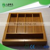 expandable bamboo cutlery tray drawer with wholesale, made in china