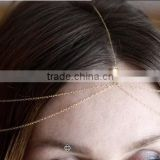 Free shipping wholesale fashion crystal bridal headpiece wedding headband hair head chain forehead hair jewelry