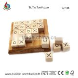 wooden board Game Tic Tac Toe Puzzle