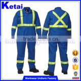 100% cotton blue flame retardant work protective coverall                                                                         Quality Choice