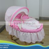 hand made cradle baby moses basket / moses basket set /maize basket/ bassinet,/ corn basket /with rocking stand BB020