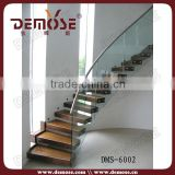 floating curved metal stairs with wood staircases for small spaces