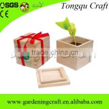 best selling products wooden flower split pot planter, alibaba different types wooden garden flower pot