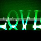 "High quality LED front lit LOVE bulb letter signs /ANTIQUE GREY LED WOODEN SENTENCE ""LOVE"""