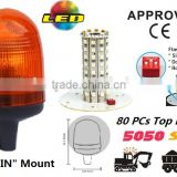 E-MARK SMD Flash Warning Light, ECE MARK SMD Rotating Warning Beacon (SR-BL-501S-7) Europe DIN Mount LED Beacons, 3 Functions