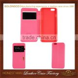 Compatible Brand Custom Logo Excellent Quality Wallet View Window Leather Case For Iphone