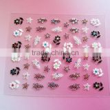 Beauty products custom 2D flower nail sticker decals 3d nail art decorative sticker nail tips decoration accessories manufactory