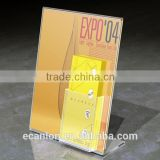 Factory directly price for acrylic brochure holder with business card pocket of Shenzhen