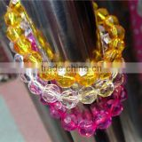 Arrival crystal glass bangle with crystal beads jewelry clothes(R-1337