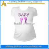maternity t-shirt in 100% bamboo fabric