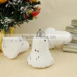 Most popular unique design cheap White snow bell christmas tree ornaments from manufacturer