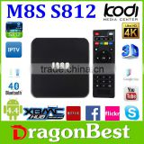 LED tv Smart Electronics Home Audio, M8S s812 Video & Accessories Tv Receivers Set Top Box m8s