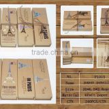 New popular product kidsnew fancy kraft paper pen box case/paper pencil case suppliers and manufactures