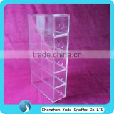 High Clear Acrylic Sunglass Display Organizer Storage Case Customize Display Case With 5 Drawer Box