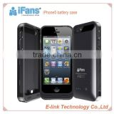 iFans 2400mah external battery case For iPhone 5S high quality for iphone 5 battery case with MFi
