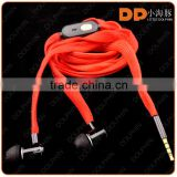 Dongguan earphone 3.5mm in-ear shoelace braided earphone stereo shoelace earphones eadphones