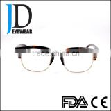 double frame compound eye glasses with metal bar,eye glasses frames high quality brand name