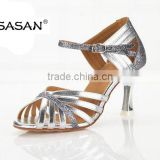 Best Sell Glittler Silver Woman Latin Dance Shoes Tango Dance Shoes Gold Heel High S-223
