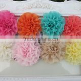 "2"" Chiffon Silk Flowers Rosette Flowers Chiffon Shabby Flowers Silk Lace Layered Flowers Hair Flowers IN STOCK"