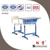 AP Good quality height adjust school desk with chairs
