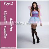 Wonderful adult fairy puffy dress butterfly wings costume
