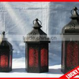embossed glass 3pcs a set fashionable moroccan candle holder