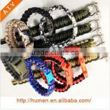High Quality paracord bracelet wiht stainless steel shackle or buckle