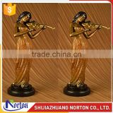 Life size lady playing violin bronze sculpture for sale NTBH-051LI