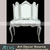modern dressing table with 3 mirror around