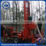 Professional portable traction type water well drilling rig with 60/73/89mm drilling pipe