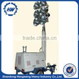 Cheap light tower sale 4x1000W, 50/60hz, 6m mobile light tower