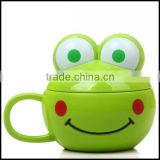 Creative Children Girl Lady Mug Cup Cute Frog Plastic Cup Water Milk Coffee Cup,custom plastic coffee milk cup for kids factory