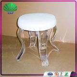 Wholesale Acrylic Cushion Round Stool Lucite Art Room Stool Clear Legs Salon Saddle Stool
