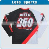 custom long sleeve jersey sublimated t shirt V neck