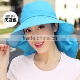 wholesale Summer Sun Protection Fishing Cap Hat Windproof Sun Hat for lady