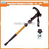 cheap wholesale high quality 4 section aluminium alloy hiking stick