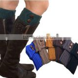 6 color assorted knit boot cuffs fashion style button leg warmers crochet boot socks toppers