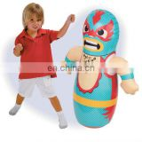 inflatable 3D bop bag tumbler kids boxing punching dummy